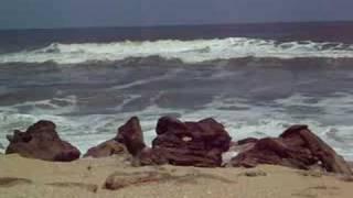 Ocean churning Washington Oaks State Park Beach, Florida 9-6-08