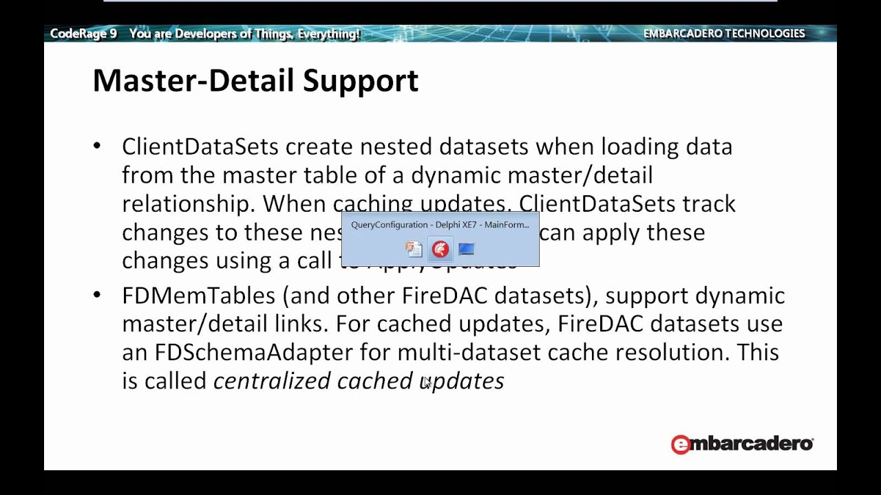 FireDAC In-Memory DataSet: TFDMemTable | The Podcast at Delphi org