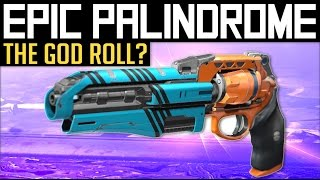Destiny | EPIC PALINDROME! - Trying out a Godly New Palindrome in PvP (Update 2.5.0.2 Gameplay)