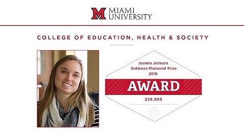 2016 joanna jackson goldman memorial prize winner