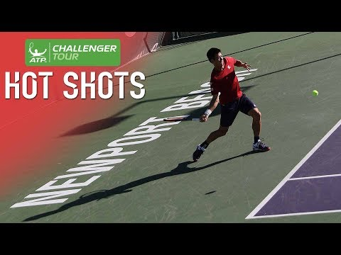 Nishikori Fires Hot Shot On The Run In Newport Beach 2018