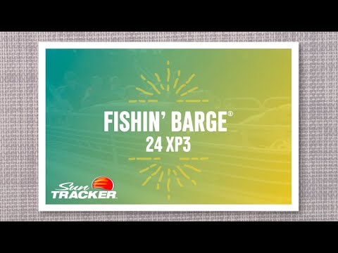 Sun Tracker Fishin' Barge 24 XP3 video