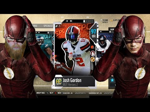 "Josh ""FLASH"" Gordon Makes Incredible Highlight Reel Play! Madden 18 Ultimate Team Weekend League"