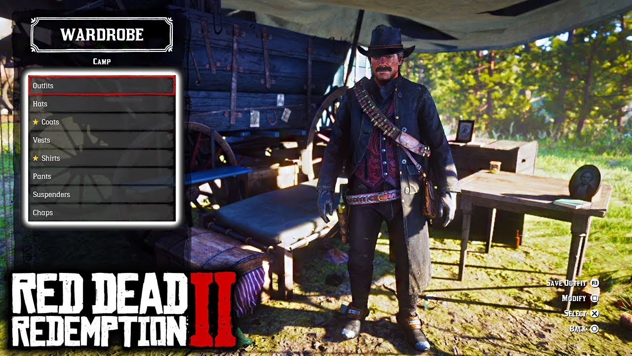All Outfits For Arthur Morgan In Red Dead Redemption 2 All Clothing
