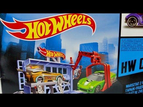 Hot Wheels Power Lift Garage With Hot Wheels Car ★ For Kids Worldwide