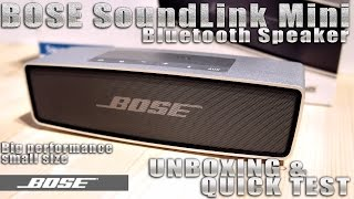 Bose Soundlink Mini [UNBOXING …