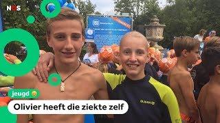 Olivier en Philip zwemmen om geld op te halen voor kankeronderzoek