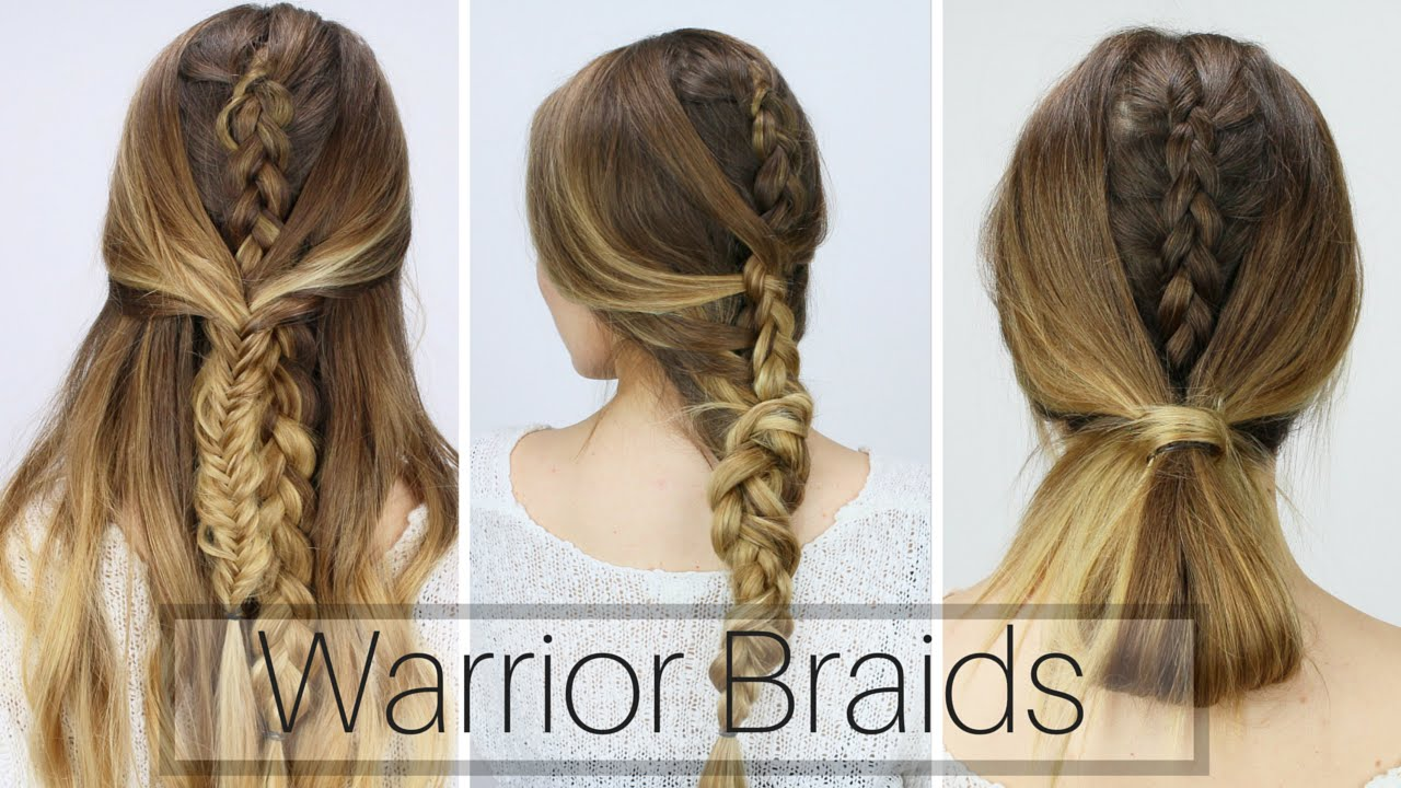 W Hairstyle: 3 Easy Warrior Braids (Dirty Hair Styles!!)