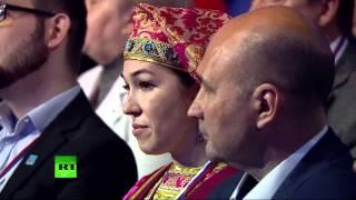 Владимир Путин выступает на форуме ОНФ в Йошкар-Оле