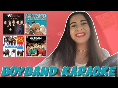 BOYBAND EVOLUTION CARPOOL KARAOKE | Just Sharon