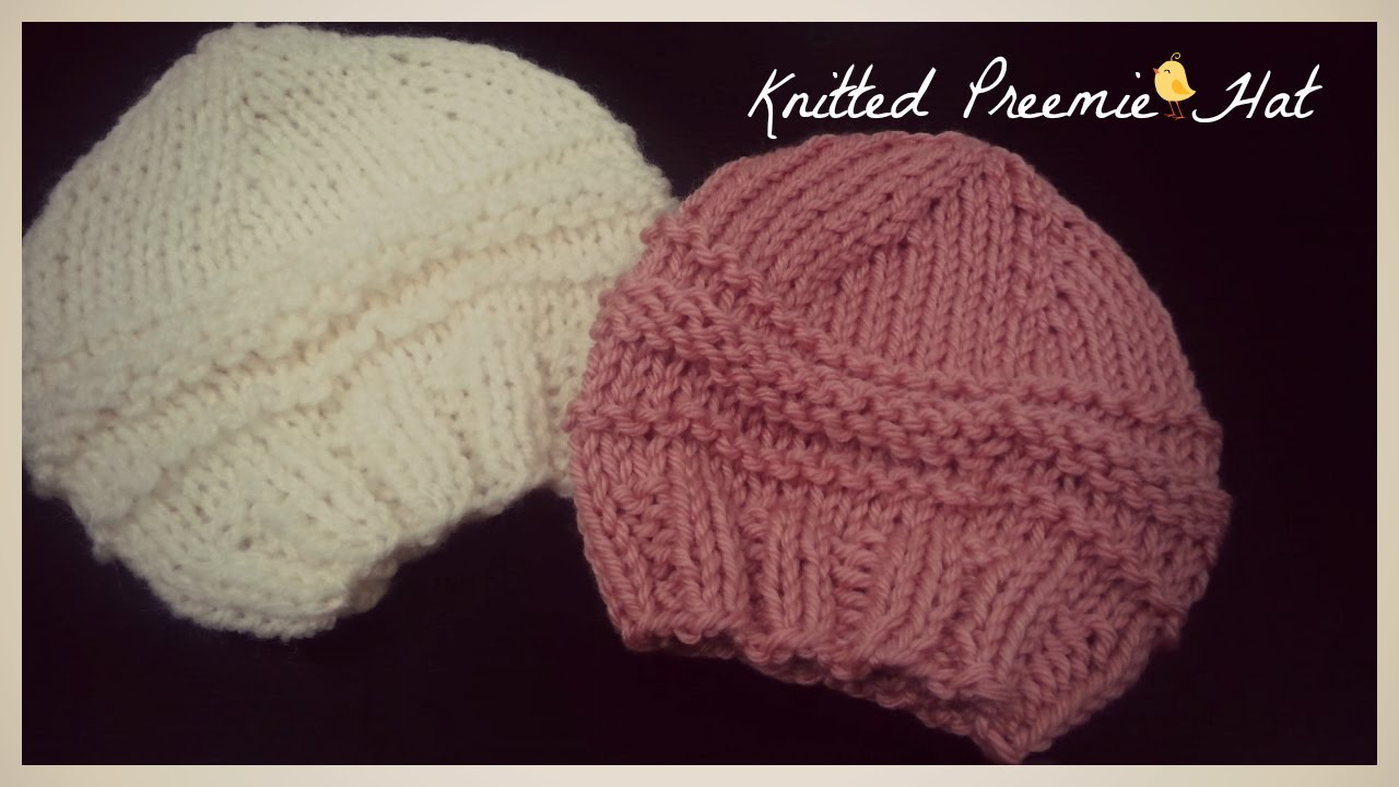 Knitted Preemie Hat | Knitted Pattern - YouTube