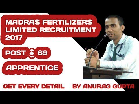 Madras Fertilizers Limited Recruitment 2017 – 69 Apprentice Posts | Apply Online