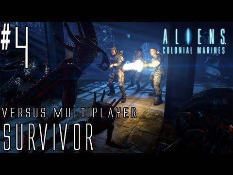 Aliens: Colonial Marines - Walkthrough - Versus Multiplayer - Part 4 - [Survivor] - Boiler Domination