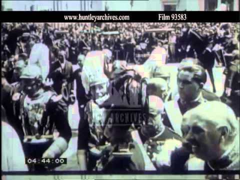 King Alfonso of Spain.  Archive film 93583