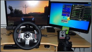 GTA V - Driving on a Logitech G27 Wheel