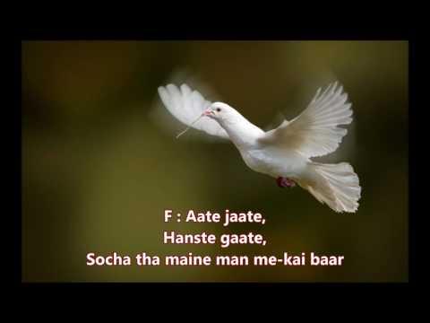 Aate Jaate - Maine Pyar Kiya - Full Karaoke