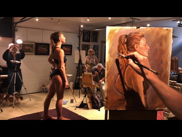 Figure Painting at Schulenburg Studio 9/18/19