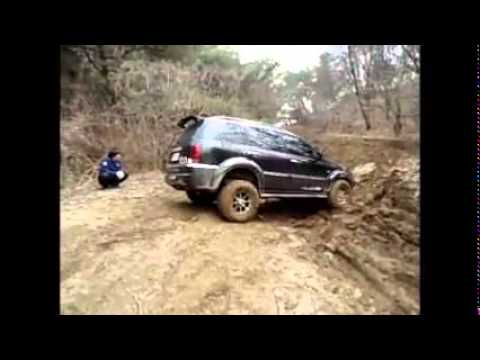 ssangyong rexton off road 4x4 mud mire fight desperately. Black Bedroom Furniture Sets. Home Design Ideas