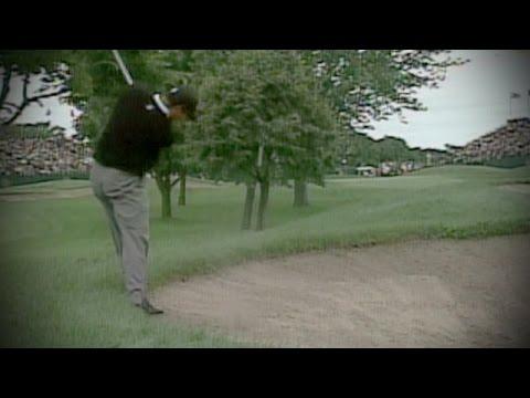 Tiger Woods' amazing 3-iron at 2002 PGA Championship Hazeltine from 18th hole bunker