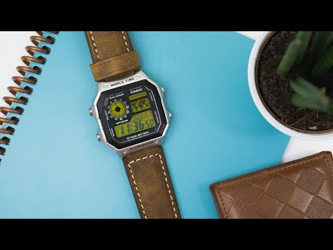 Casio Royale: AE1200-WH LCD And Leather Strap Modification