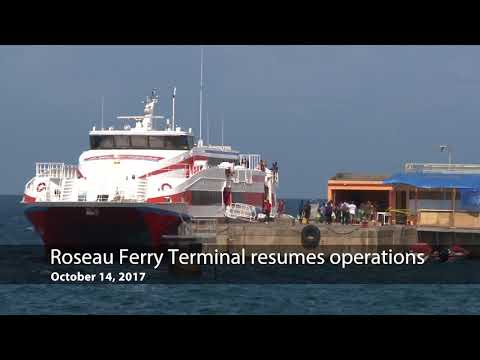 Oct. 14, 2017 - Roseau Ferry Terminal resumes operations