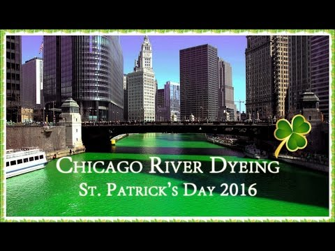 Chicago River Dyeing On St. Patrick