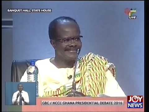 GBC NCCE Ghana Presidential Debate - Joy News (30-11-16) Part A