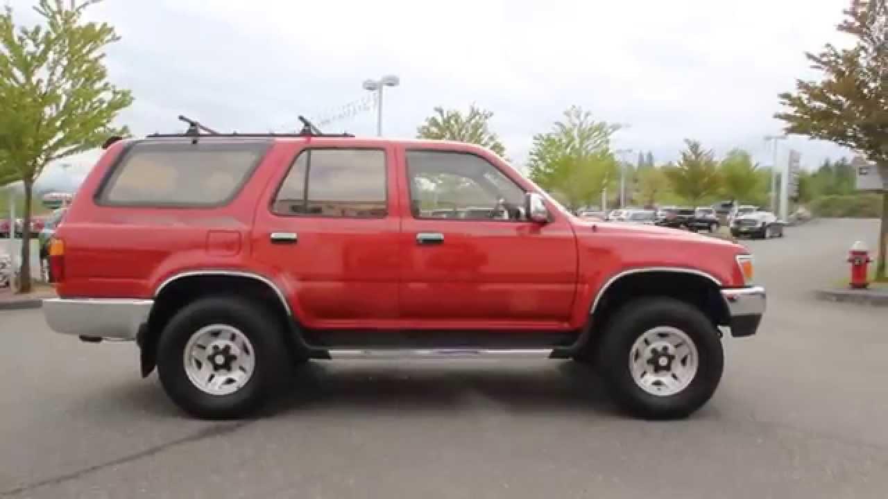 1994 Toyota 4Runner SR5 V6 | Red | R0145826 | Everett | Snohomish - YouTube