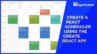 Create a React Scheduler Using the Create React App