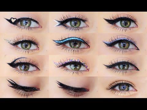 12 Different Eyeliner Makeup Tutorial