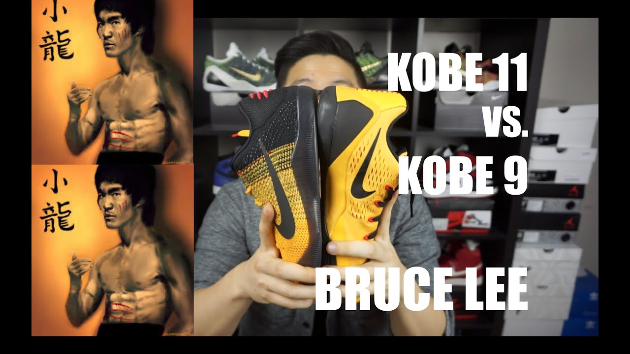 5c93557a34e KOBE 11 vs. KOBE 9 BRUCE LEE COMPARISON REVIEW - YouTube