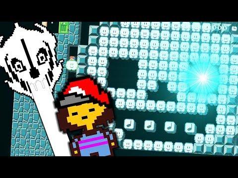 LET THE BATTLE AGAINST SANS BEGIN!!   Undertale Levels   Super Mario Maker