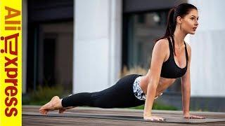 СПОРТИВНЫЙ КОСТЮМ Штаны для Йоги | ПОКУПКИ с АЛИЭКСПРЕСС 2019. Женская Одежда для Фитнеса
