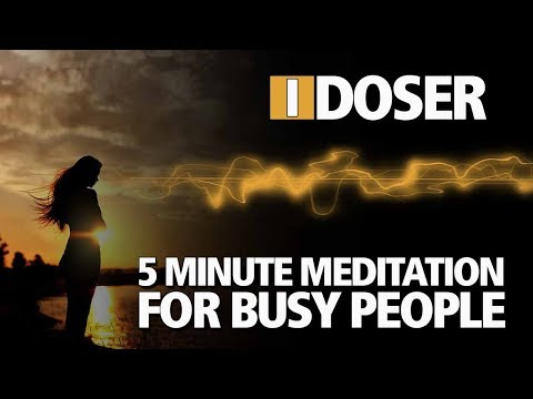 iDoser 5 Minute Meditation for Busy People