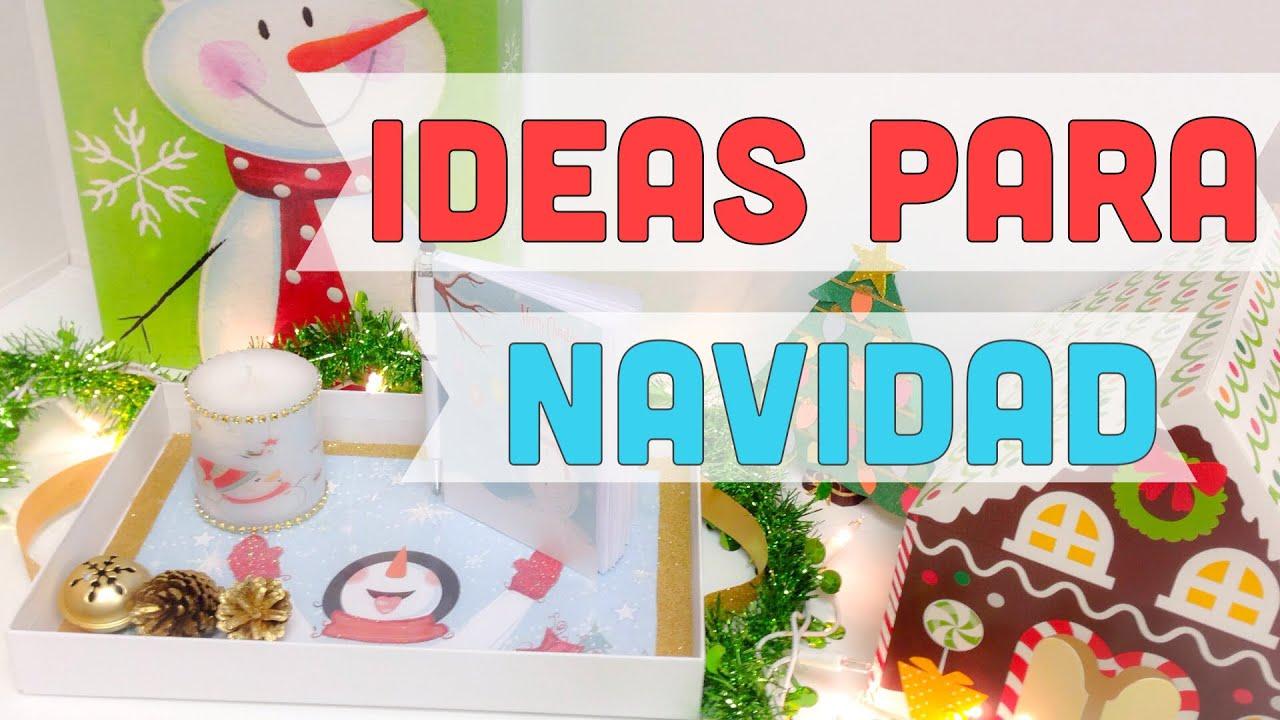 Ideas para navidad ideasdecoraci n para navidad manualidades f ciles youtube - Manualidades para navidades faciles ...