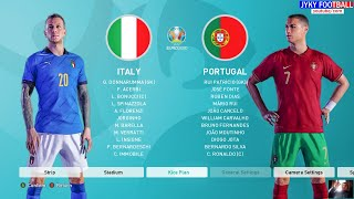 PES 2021 Italy vs Portugal UEFA EURO 2021 Full Match All Goals HD Gameplay