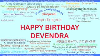 Devendra   Languages Idiomas - Happy Birthday