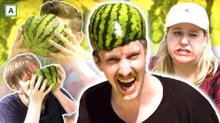 Hvem spiser mest vannmelon på 5 minutter?