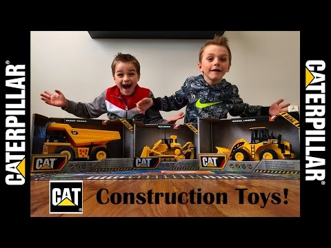 Bulldozer, Wheel Loader, and Dump Truck Toys by CAT