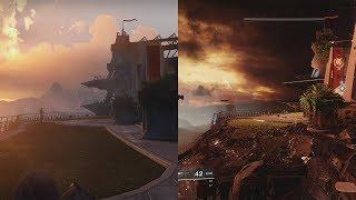 Destiny VS Destiny 2   GRAPHICS EVOLUTION   TOWER COMPARISON
