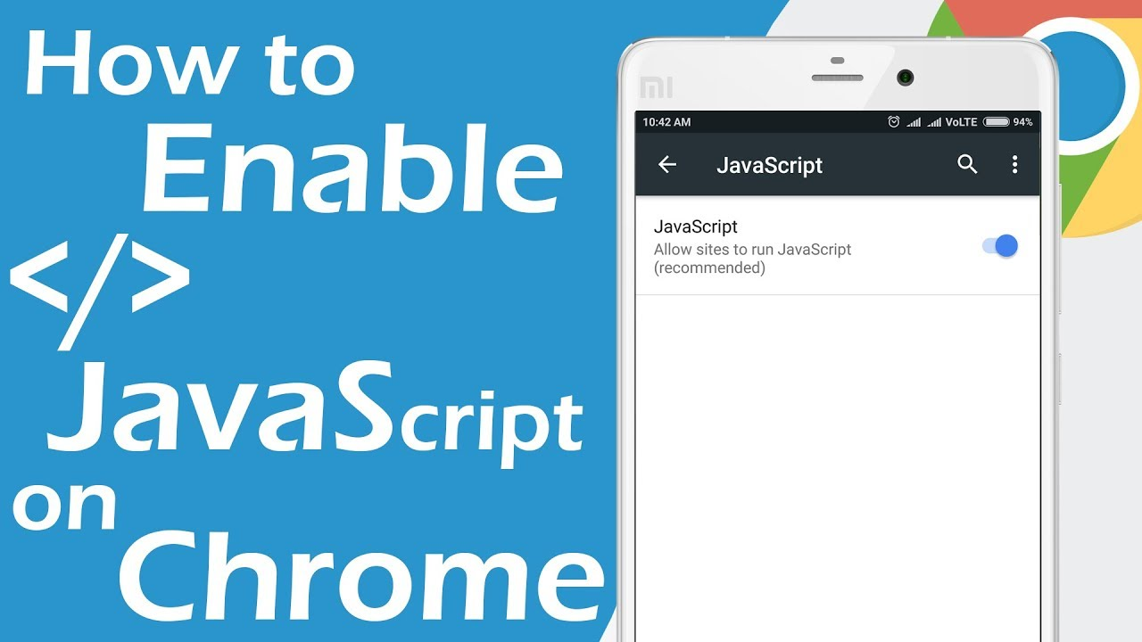 How To Enable Javascript in Chrome on Android