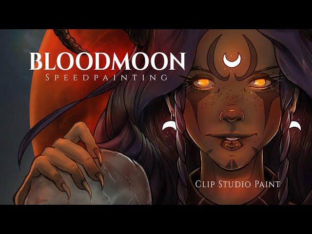 BLOODMOON 💀 Digital Art Speedpainting in Clip Studio Paint