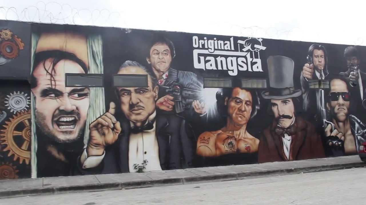 original gangsta wall godfather scarface pulp fiction