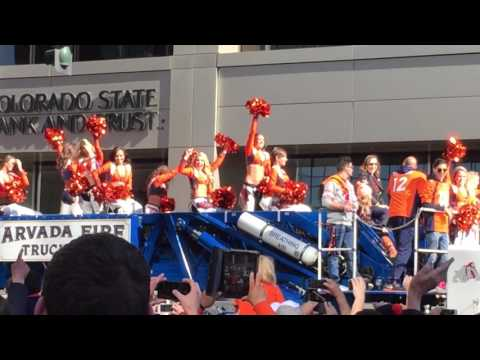 Denver Broncos - Super Bowl 50 Parade (Part 5) - Cheerleaders