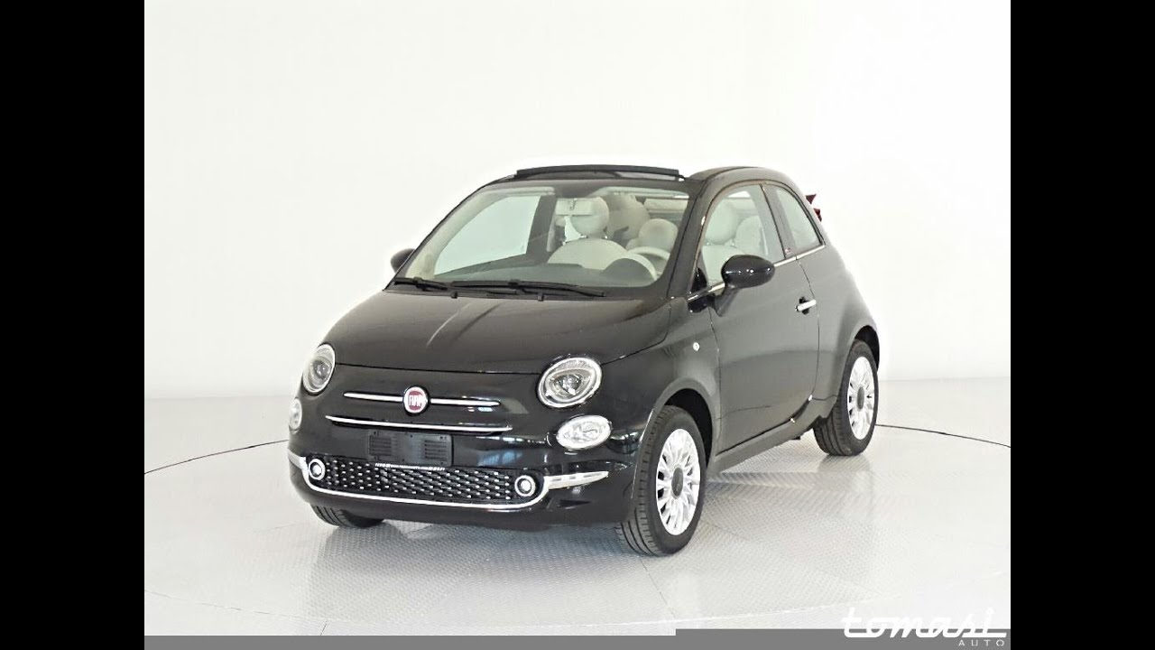 fiat 500 c 1 2 lounge nero vesuvio km0 youtube. Black Bedroom Furniture Sets. Home Design Ideas