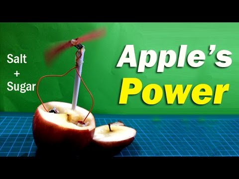 Amazing apple generate electricity with special technique | Creative Channel