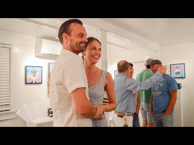 Sutton Foster and Julien Havard - Art Show at the A Gallery - July 2015
