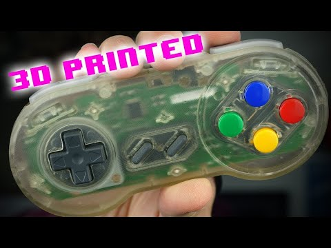 How I Made My Own Transparent Super Nintendo Controller