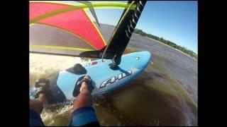 windsurf, entrando en planeo y trasluchada