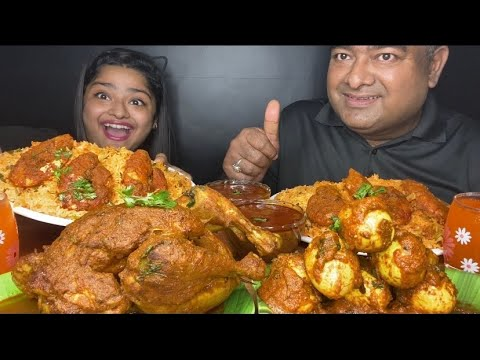 Download WHOLE CHICKEN CURRY🔥 SCHEZWAN FRIED RICE, SPICY EGG CURRY AND PRAWNS MALAI CURRY|FOOD EATING VIDEOS